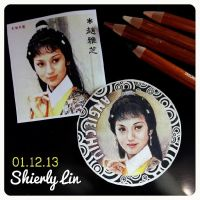 Angie Chiu Nga Chi Manual Drawing for Keychain by shierly85