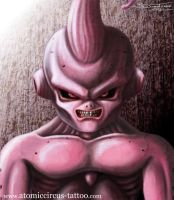 Kid Buu from Dragonball by AtomiccircuS