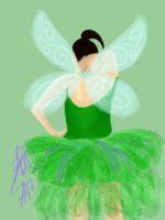 tinkerbell tutu by dawnwally