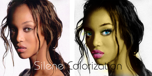 Tyra Banks colorization by silene7