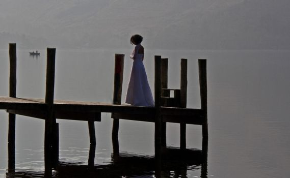Bride on Pier by Rebacan