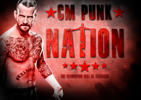 CM Punk Nation Poster by BiggertMedia