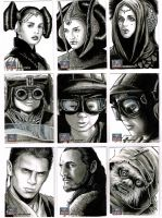 Star Wars Galaxy 7 sketchcards 9 by Frisbeegod
