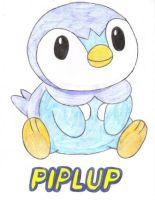 My Piplup Drawing Number 2 by BlueVampire101