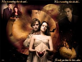Bella and Edward new moon wall by angellove97