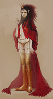 red lioness by Chaotic-Muffin