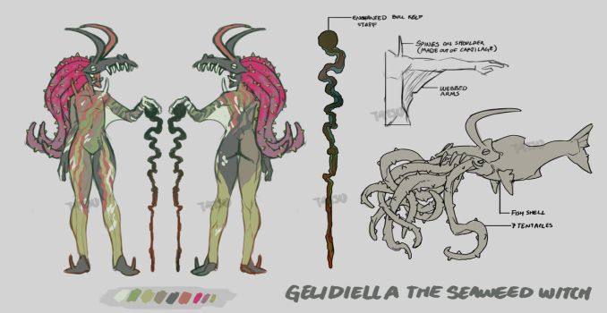{Seaweed Witch} Gelidiella by BaraTomato