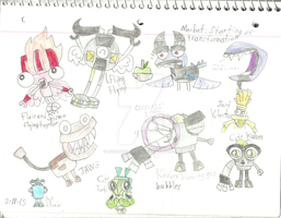 Mixels - Doodles 2 by worldofcaitlyn