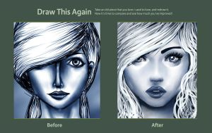 Before and After. Draw This Again. by balletbunhead20