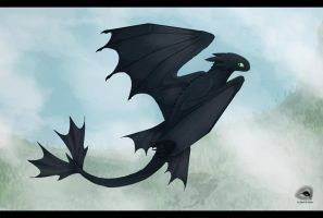Toothless by NatalieDeCorsair