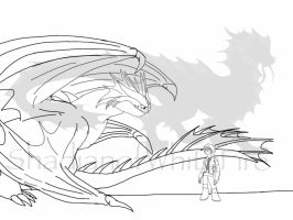 HTTYD:CTTS-Thorin's Debt Repayed lineart by ShardianofWhiteFire