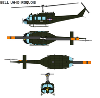 Bell UH-1d Iroquois by bagera3005