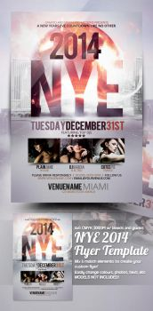 NYE New Years Eve Flyer Template by mrkra
