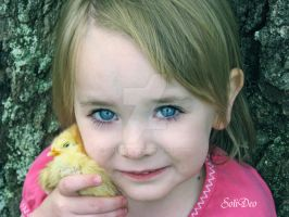 Baby and her chick by SoliDeo