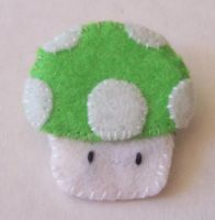1-Up Mushroom Pin by cuteordeath