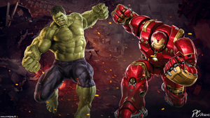 Hulk Vs Hulkbuster by D-CDesigns