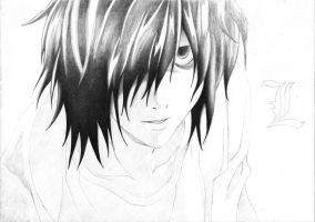 In progress.. L (Death Note) [4] by DesignerMF