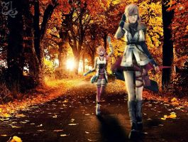 lightning and serah by Sayurii-Miya