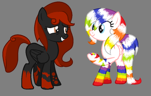 Chocalate and Skittles for iceyflamesthekitten by C0I0R