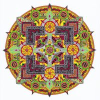 Mandala of the Earth element by kri3is