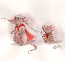 Despereaux and Roscuro by crazy-flavored