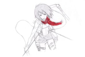 MIKASA!!!!!!!!! by FollowingShadows