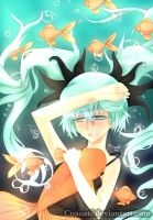 Hatsune Miku: Deep Sea Girl by coausti