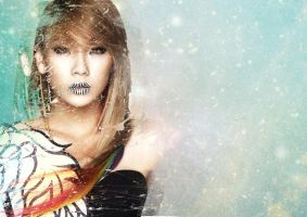 Simpe CL wallpaper (2ne1) 2 by louisebin