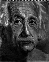 Albert Einstein Drawing WIP by K-mar