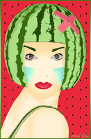 Head Watermelon by IsabellaxParadise