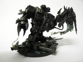 Dark Angels dreadnought ripping up a soul grinder! by greenstuf