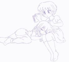 Ranma and Akane - Sweet dreams by Arwen-chan