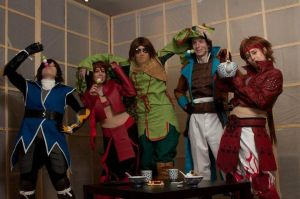 Drunken Basara Tea party by Koutetsu