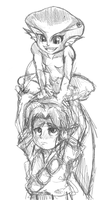 Link and Ruto [Sketch] by CheloStracks