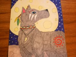Native American Wolf #2 ( Close Up) by BVBgirl27