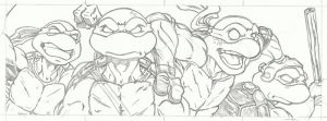TMNT final pencils by mikereisner