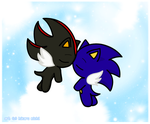 Sonic and Shadow - Nuzzle by hikaru-michi