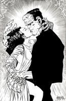 Frankenstein Monsters Kiss by garnabiuth