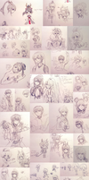 LoZ, Seto, and OCs - june/july2015 by onisuu
