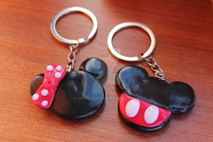 Couple key chain by angelsbiju