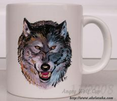 Angry Wolf Cup by akelataka