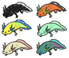 axolotl pointables.lowerprices by freaking-adopts