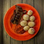 Sirloin Steak with papas arrugadas and ajvar by attomanen