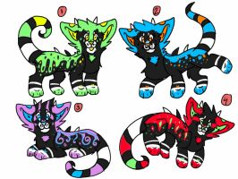 Gecko kitten adoptables closed by xXFluffehWolfXx