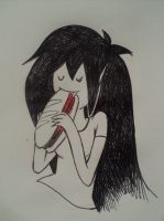 marcy eating by windy98
