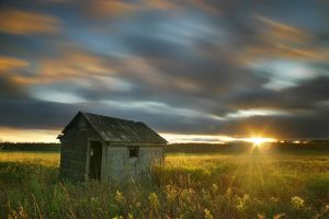Shack at Sundown by tfavretto