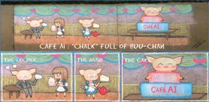 Cafe AI : Chalk Full of Buu-Chan by Zodiac-Salad