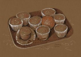 Muffins by dh6art