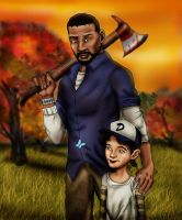 The Walking Dead: Lee and Clementine by Axels-inferno