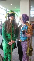 Female Riddler and Two Face by EroSempai